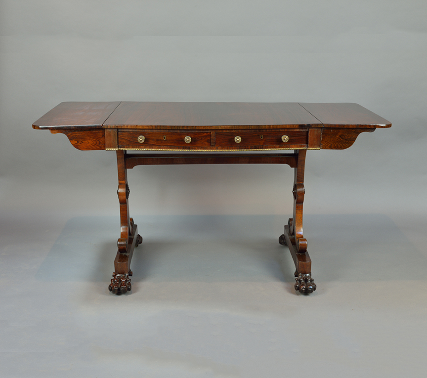 George IV Rosewood Sofa Table