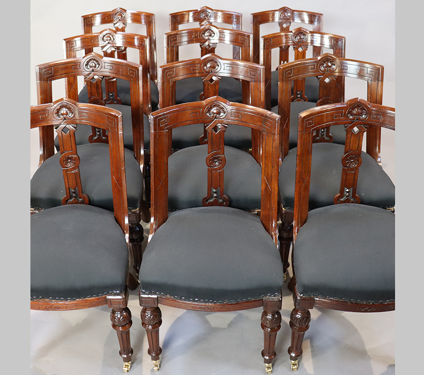 Set of 12 Victorian Dining Chairs