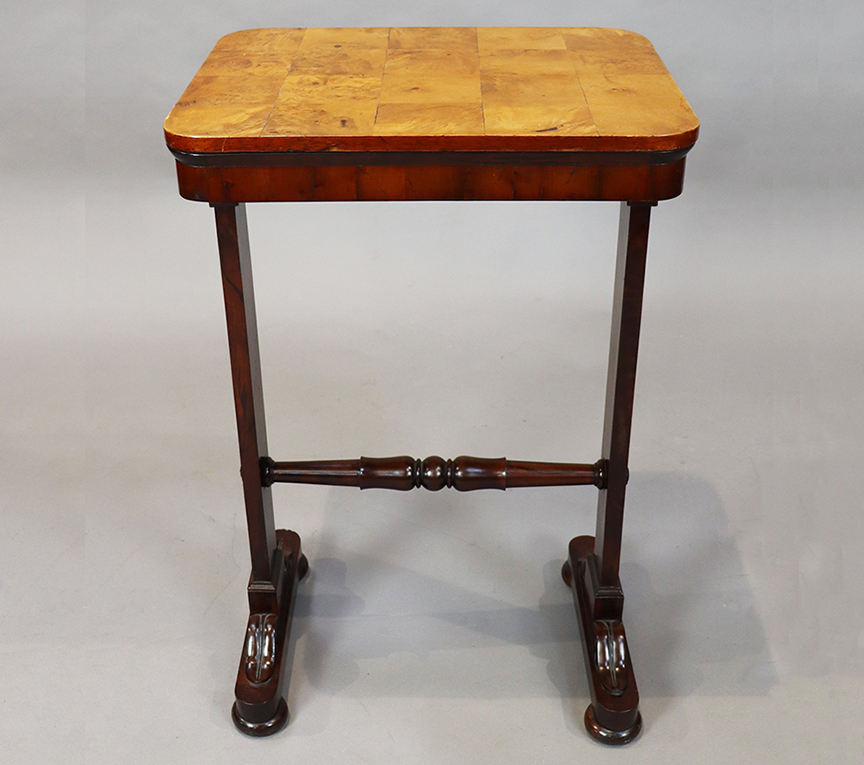 Yew and Burr Walnut Table