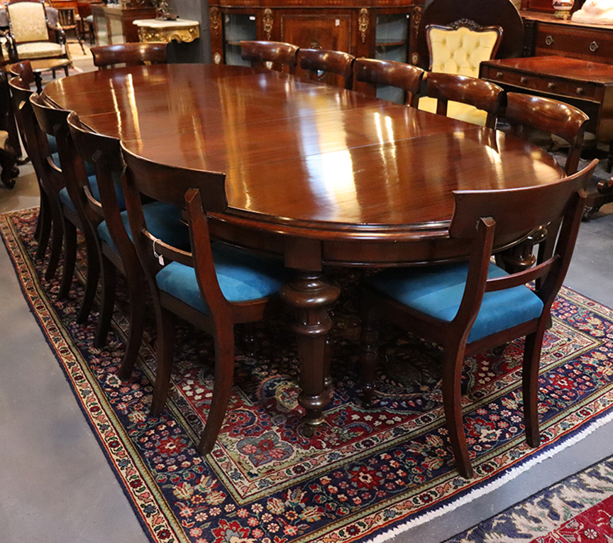 Victorian D-end Mahogany Dining Table