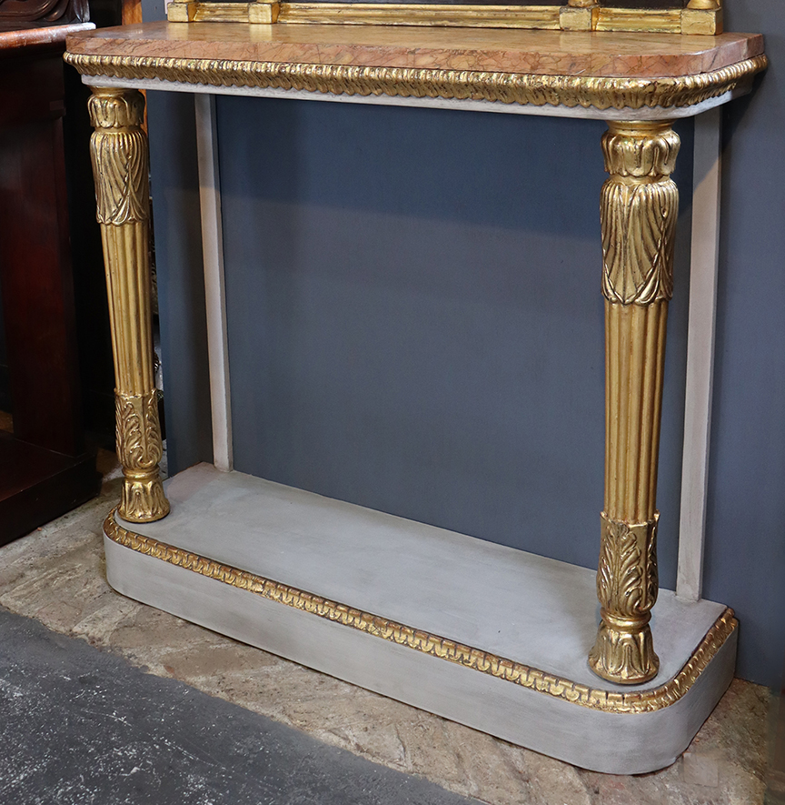 William IV Gilt & Painted Console Table