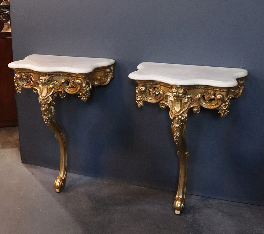 Pair of 19th Century French Pier Tables