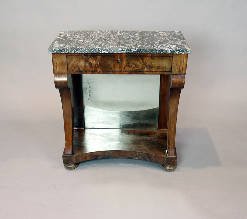 19th Century Console Table with Grey Marble Top
