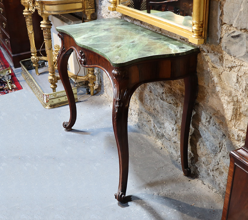 19th Century Rosewood Console Table