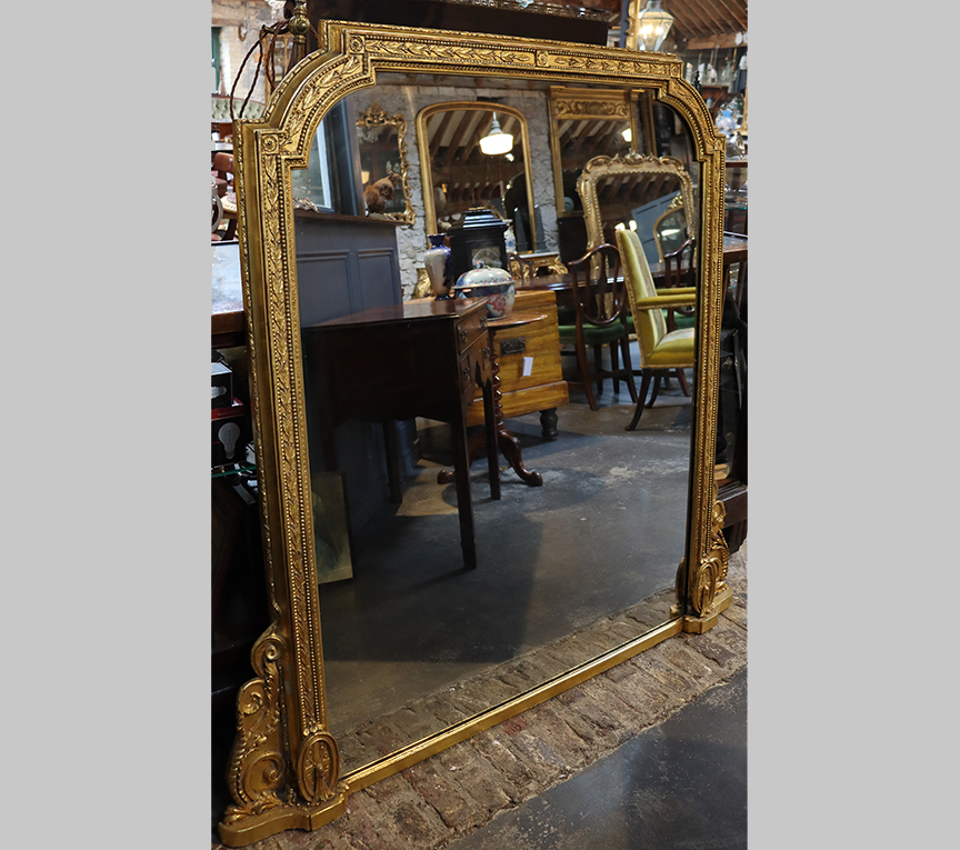 Large 19th Overmantle Mirror